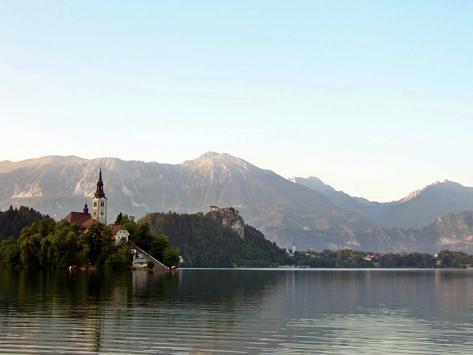 Het meer van Bled in Slovenië.